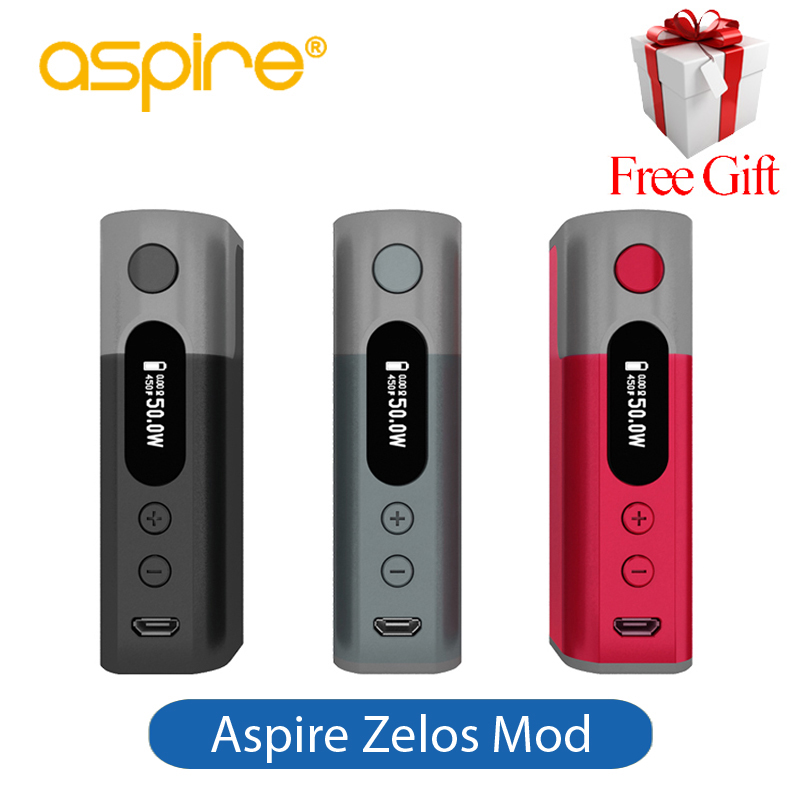 Aspire Zelos 50W Mod Built-in 2500mAh Battery Fit Aspire Nautilus 2 Tank Vaporizer Electronic Cigarette Vape Box Mod