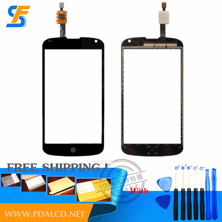 (black)Touchscreen for LG E960 Nexus 4 Touch screen panels Front Glass Digitizer Repair replacement Free shipping + DIY tools