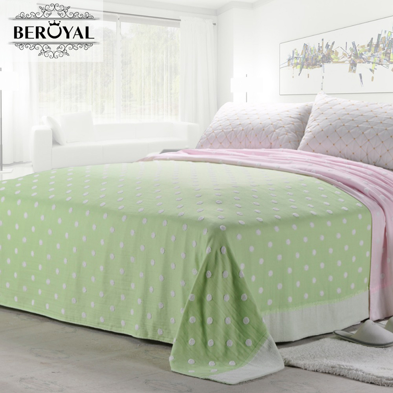 ФОТО Beroyal 2017 New Arrival 100% Cotton Blankets Terry Vintage Throw Blanket Single Blanket on Bed Warm & Soft Sheets 140cmx190cm