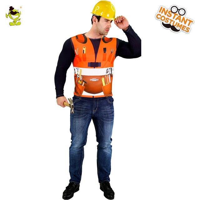 Mannlichen 3d Digitaldruck T Shirt Bauarbeiter Kostum Nette Schone