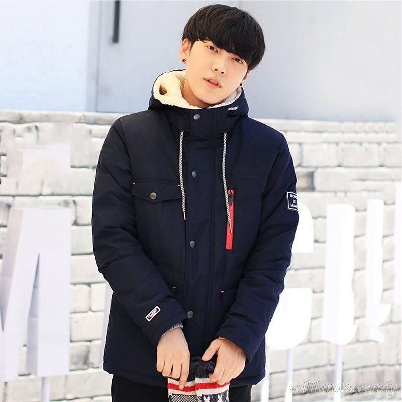Men's Korean Ultra Light Large Size Brand Parka Coat Herren Warm Cardigan Male Winter B Jacket With Cotton Hood Manteau Homme