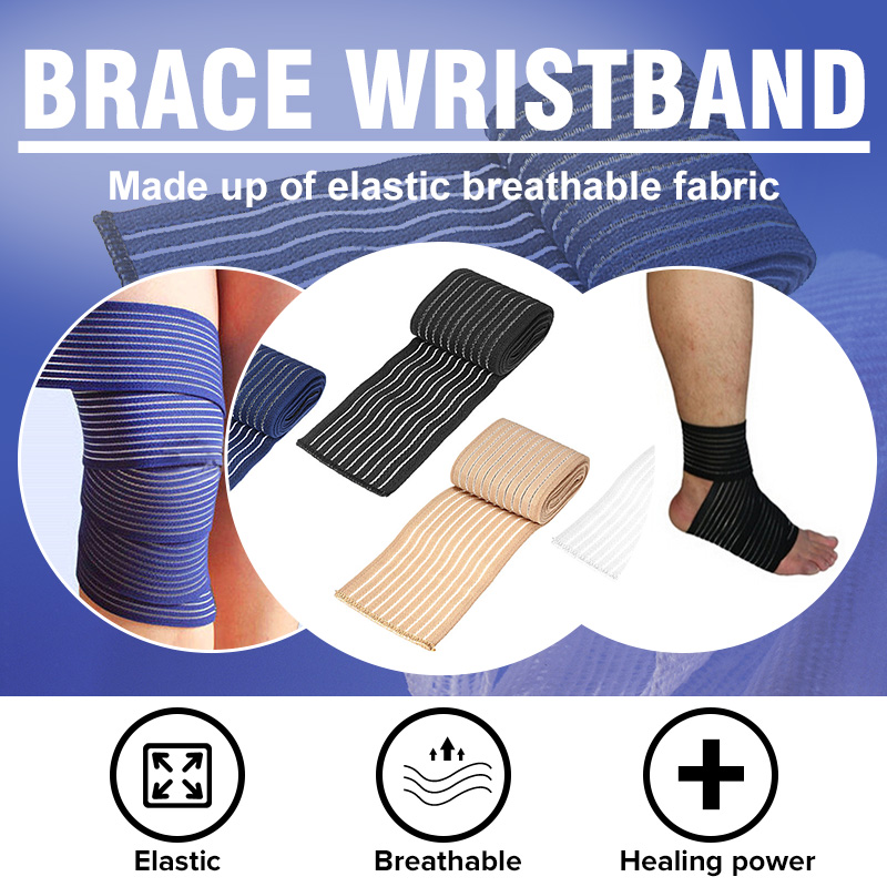 Fitness Elastic Bandage Tape Sports Support Straps Protector Bands Ankle Leg Knee Elbow Wrist Guards Braces