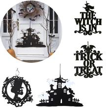 FENGRISE Non-woven Halloween Ornament Witch Skull Skeleton Decoration 2019 Party Supplies Accessories