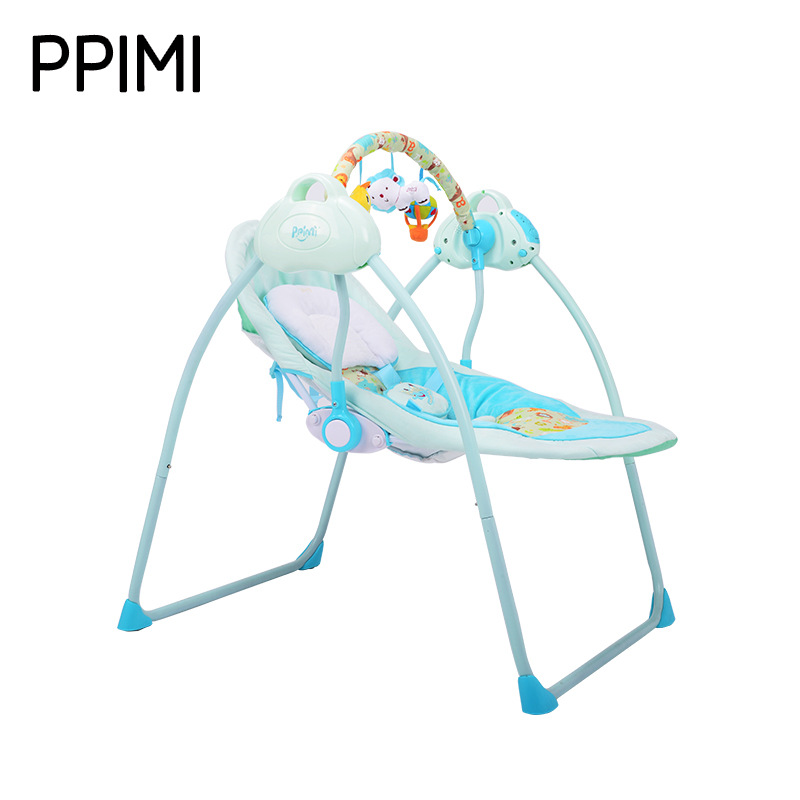 Primi Intelligent Electric  Baby Cradle Rocking Bed  Sleeping  Crib High Landscape infant baby electric rocking chair thicken steel frame high load bearing baby cradle prevent baby spitting milk