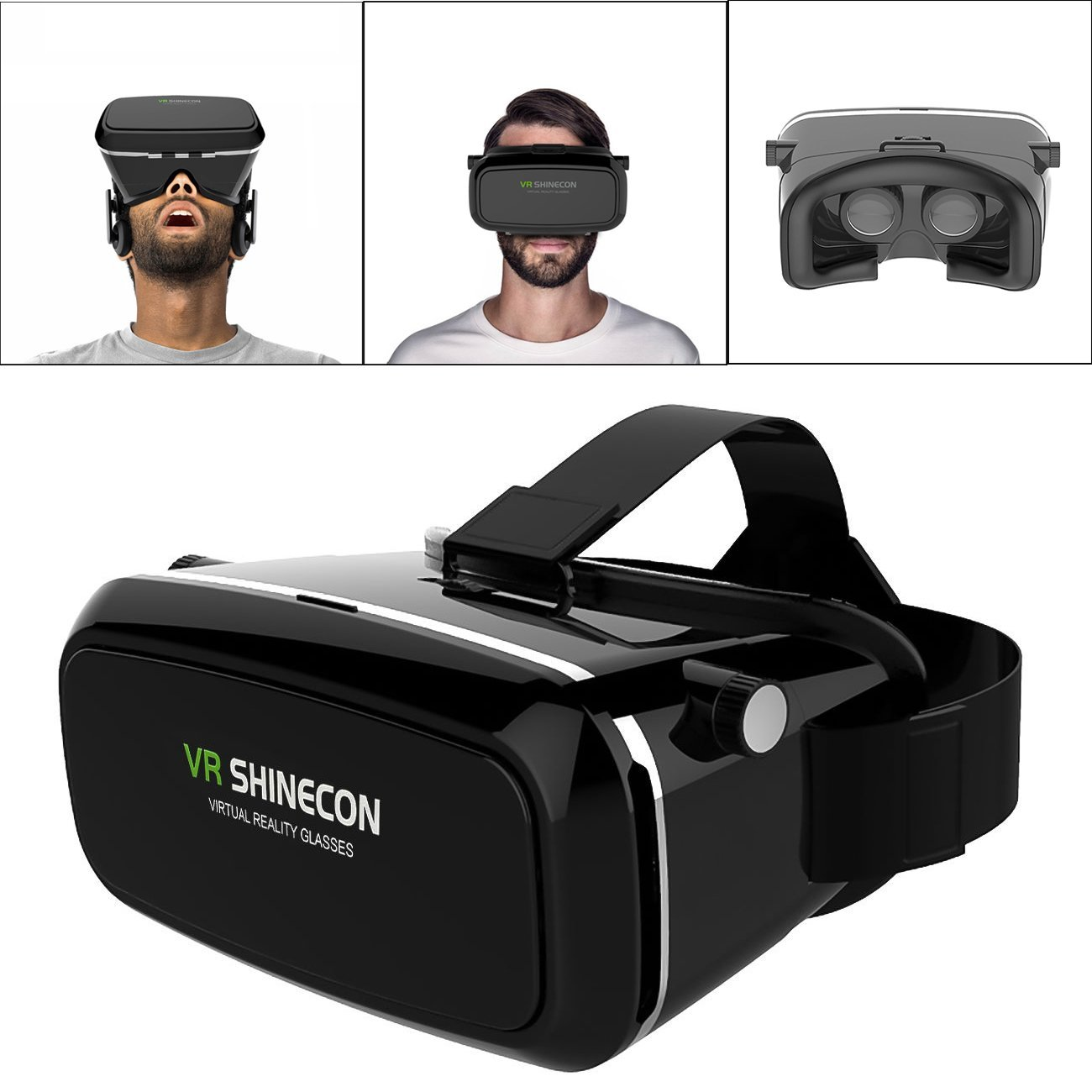 HOT SHINECON Virtual Reality Immersive Glasses Headset for 3D Videos Movies Games Compatible with Most 3