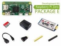Ahududu Pi Sıfır Paket E Temel Geliştirme Kiti Micro SD Kart, güç Adaptörü, 2.13 inç e-Kağıt ŞAPKA, ve Temel Bileşenleri