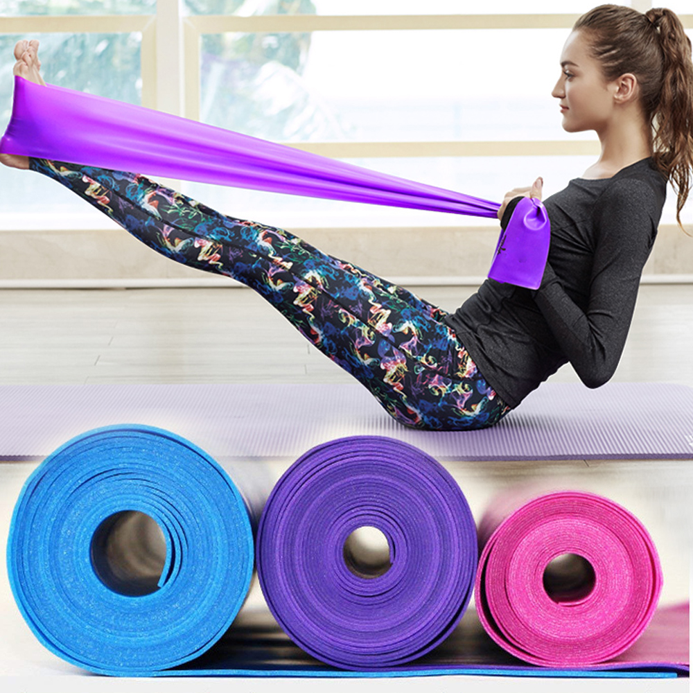 1.2m Gym Fitness Equipment Strength Training Latex Elastic Resistance Bands Workout Crossfit Yoga Rubber Loops Sport Pilates
