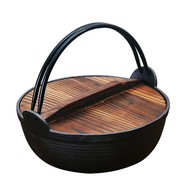 Cast iron cooker household Japanese non-stick kitchen pot thicker multi-purpose use