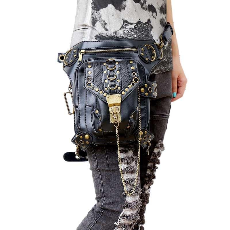 Lady fickor Partihandel Retro Messenger Bag Punk Män Kvinnors - Bälten väskor - Foto 1