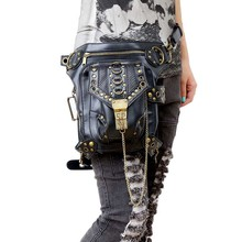 Lady kabatas vairumtirdzniecība Retro Messenger Bag Punk vīriešu sieviešu augstas kvalitātes PU ādas ceļojuma kāju soma Sieviešu plecu vidukļa iepakojumos