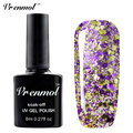 Vrenmol 8ml 3D Glitter Colors Starry Gel Nail Polish Diamond Gel Lacquer Soak Off Permanen Shiny Primer Gel Varnishes