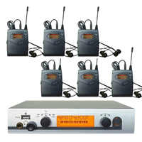 6 Receivers in ear monitor system, wireless in-ear system, professional ear monitors ear monitoring with earphone for live show