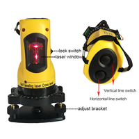 360 degree self leveling laser level meter 2 lines 1 point horizontal vertical laser levels 635nm outdoor mode tripod