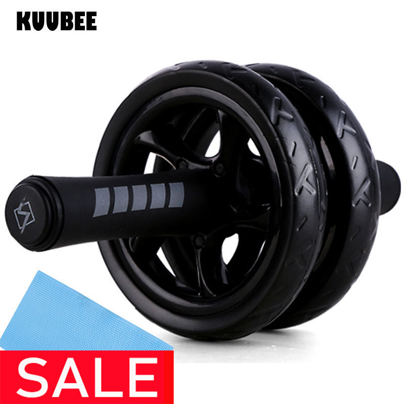 AB Roller Non-slip 15CM Tire Pattern Fitness Gym Exercise Abdominal Wheel Roller image