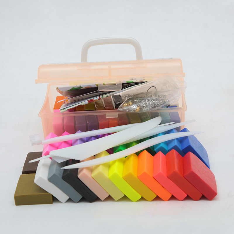 Liyuan soft clay diy non-toxic environmental protection 500g color mud 24-color tool accessories Pummatite set