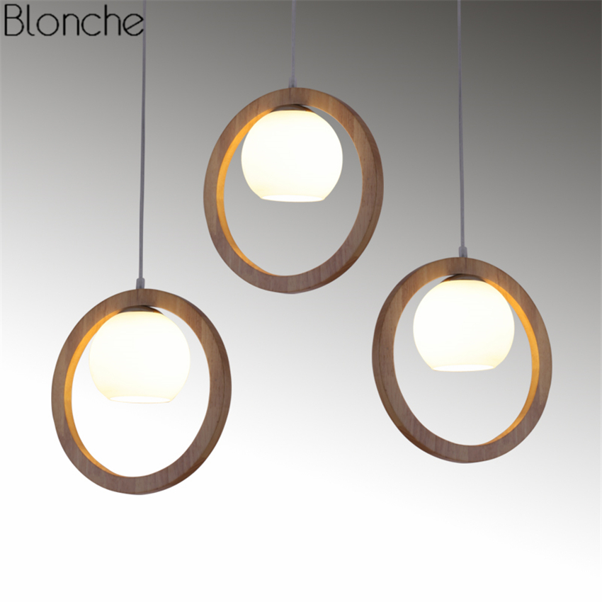 Chinese Style Pendant Lights Solid Wood Ring Glass Hanging Lamp Led Lamp for Living Room Restaurant Indoor Decor Light FixturesChinese Style Pendant Lights Solid Wood Ring Glass Hanging Lamp Led Lamp for Living Room Restaurant Indoor Decor Light Fixtures
