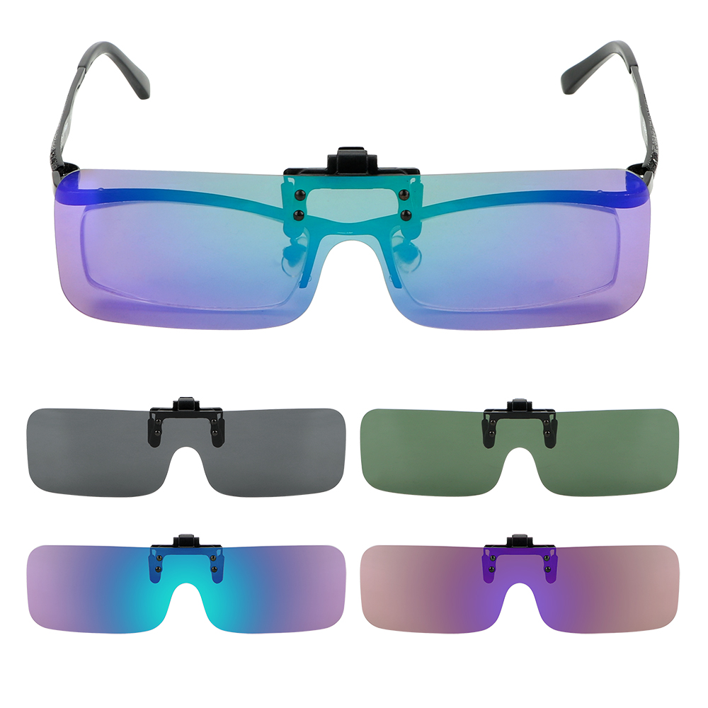 Clip On Sunglasses Driving Night Vision Lens Anti-glare For Men Women Car Driver Goggles Polarized Sun Glasses