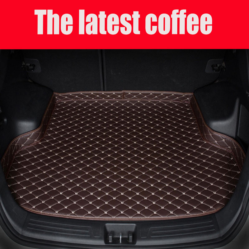 Custom fit car Trunk mats for Volkswagen Beetle CC Eos Golf Passat Tiguan sharan 5D carpet floor liner