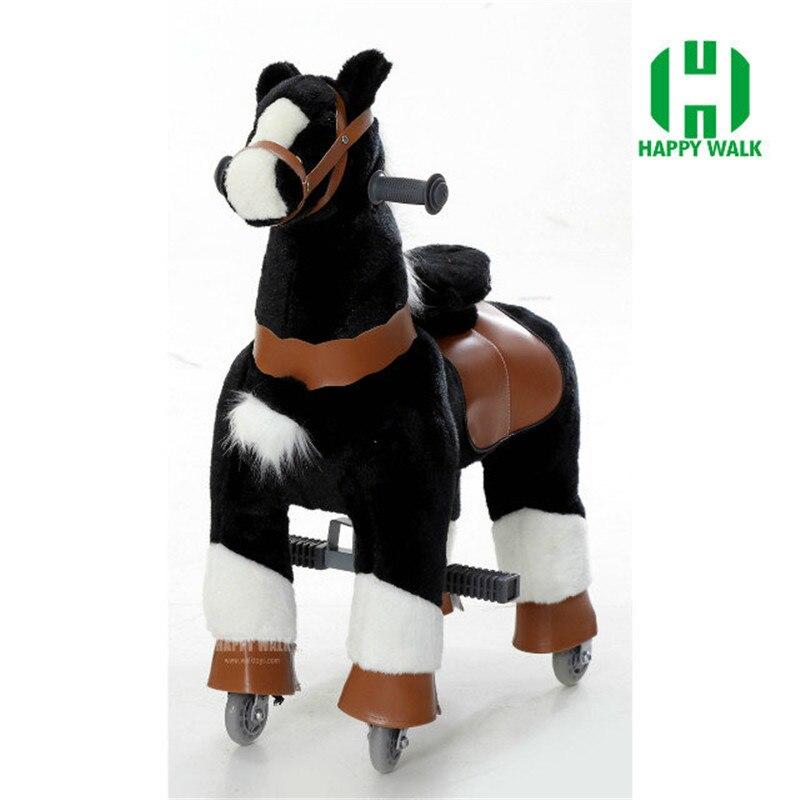 Плюшевые ходячие механические лошади игрушки для детей 3 7 лет, размер S, детские игрушки для верховой езды, игрушки на колесах, для езды на ло... - 5