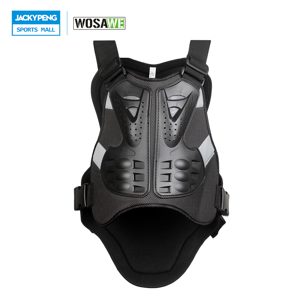 WOSAWE Motorcycles Body Armor Vest Back Support Armor Motocross Off-Road Spine Chest Protector Guards Racing Protective Gear защита для мотоциклиста racing motocross knee protector pads guards protective gear