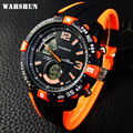 WAHSHUN Brand Black Silicone Military Army Watches Analog Display Date Chronograph Sport Watch Men Wristwatch relogio masculino