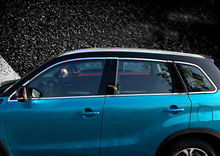 Stainless Full Window Frame Sill Trim 14pcs For Suzuki Vitara Escudo 2015 2016 bar guards door body moulding cover trim for suzuki vitara escudo 2015 2016 2017