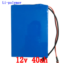 EU US no taxGreat 12v lithium battery 40ah ion pack rechargeable 40ah for laptop power bank 12v UPS cell electric bike3A charger