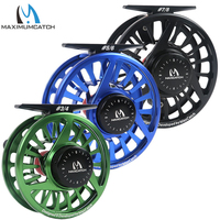 Maxcatch Fly Fishing Reel 5 6WT Fly Reel Machined Aluminium Micro Adjusting Drag Fly Fishing Reel