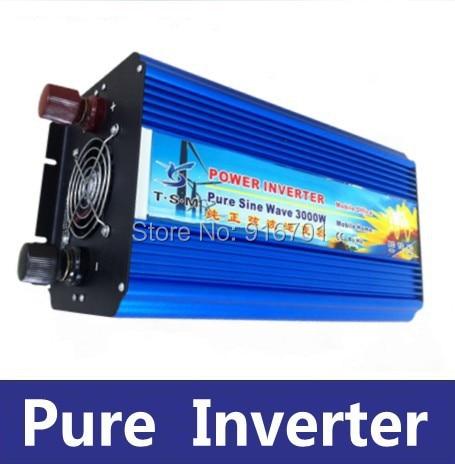 3000W 6000W Peak true Pure Sine Wave Solar Power Home car Inverter,DC12V/24V/48V to AC220V/110V off grid universal inverter solar power on grid tie mini 300w inverter with mppt funciton dc 10 8 30v input to ac output no extra shipping fee