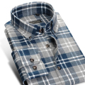 Fashion Pure Cotton Plaid Winter Warm Shirts Men Brand Long Sleeve Design High Quality Male Casual Shirts Plus Size 4XL