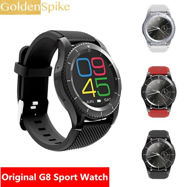 f21f4a8ba49 G8 Smartwatch Bluetooth 4.0 SIM Chamada Lembrete Mensagem Monitor de Freqüência  Cardíaca relógios Inteligentes Para Android