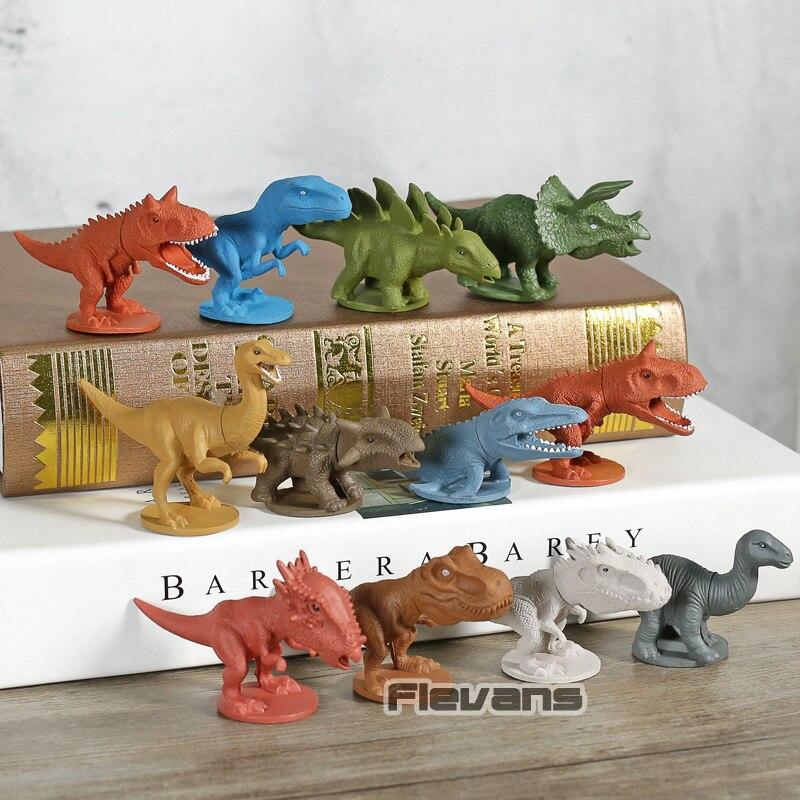12Pcs Jurassic World Tyrannosaurus Mini Dinosaurs Model Kids Animal Figures Toys