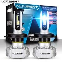 Автомобильные фары головного света Novsight, светодиодная лампа h7, h4, h11,9005, цветовая температура 6500K, мощность 50 Вт, 10000 лм