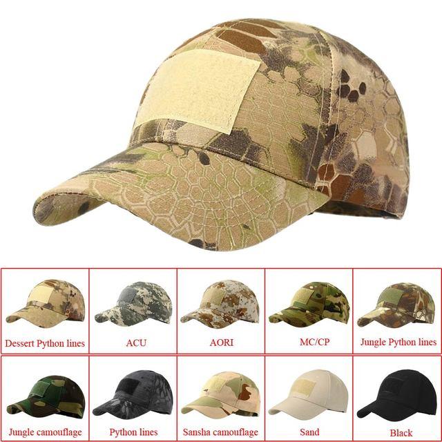 Boné do exército tático ao ar livre esporte snapback listra militar boné camuflagem chapéu