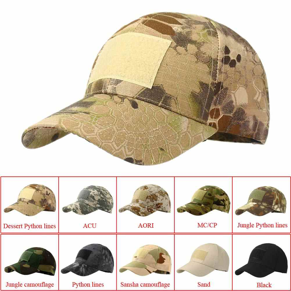 tactical army cap Outdoor Sport Snapback stripe Military Cap Camouflage Hat Simplicity Army Camo Hunting Cap Scarf For Men Adult