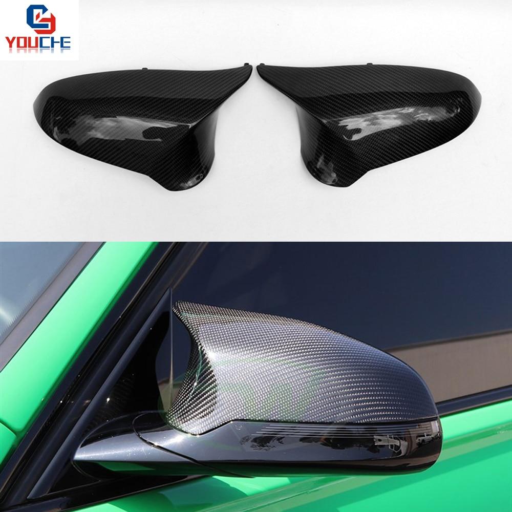 Remplacement de Couverture de Miroir de Fiber De Carbone Porte Latérale Rétroviseurs pour BMW F20 F22 F30 F31 F32 F33 F36 F10 F12 F13 F01 X1 E84