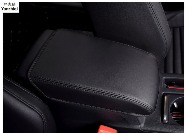 Microfiber leather Armrest Console Pad Cover Cushion Support Box Armrest Top Mat Liner for VW Volkswagen Passat B8 B8 Variant