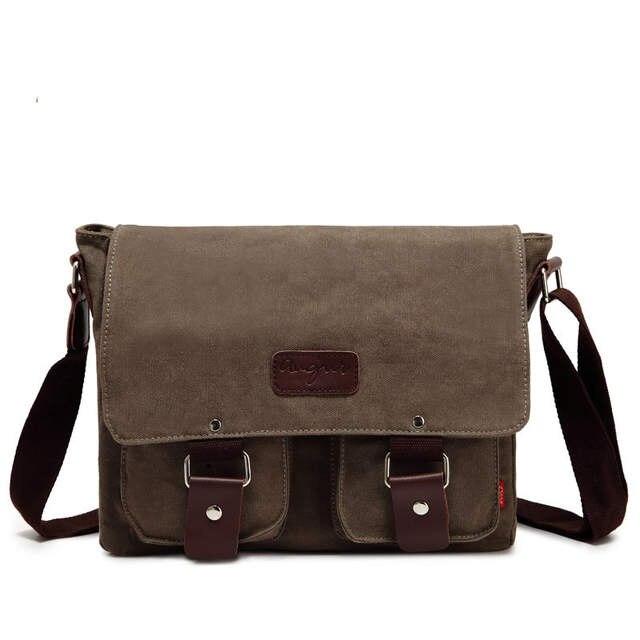 50460fa3024e Designer Canvas Shoulder Bag Men's Postman Crossbody Bag Laptop Case Office  Briefcase Men Messenger Ipad Bags Vintage Briefcase