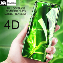 9H Hardness 4D Curved Edge Full Cover Tempered Glass for iphone 7 8 6 6S Plus X 10 XR XS MAX HD Clear Screen Protector Film