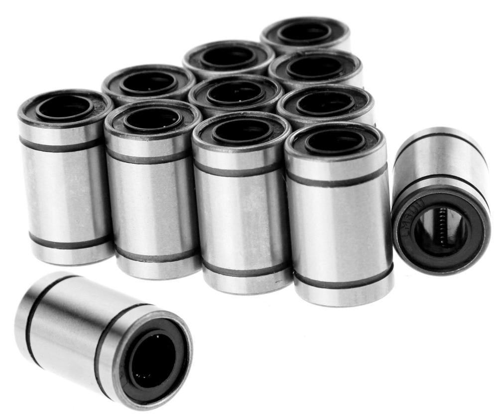 [Sintron] 12 pcs LM8UU bantalan bola linear, Bush Bushing bagian CNC untuk 8 mm batang, RepRap 3D Printer Prusa Mendel i3, Pengiriman gratis