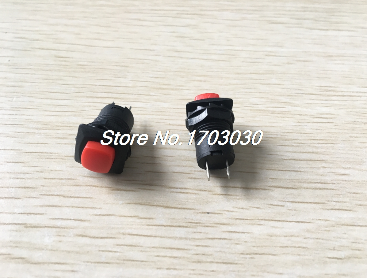 10 Pcs Red Button Latching Pushbutton Switch SPST AC 125V/3A 1.5A/250V [vk] av044746a200k switch pushbutton dpdt 6a 125v switch