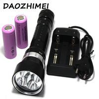 15000LM Underwater Dive Light led flashlight 5*L2 Diving lamp Torch Waterproof Lighting Lantern+2x6800MA 26650 Battery+charger