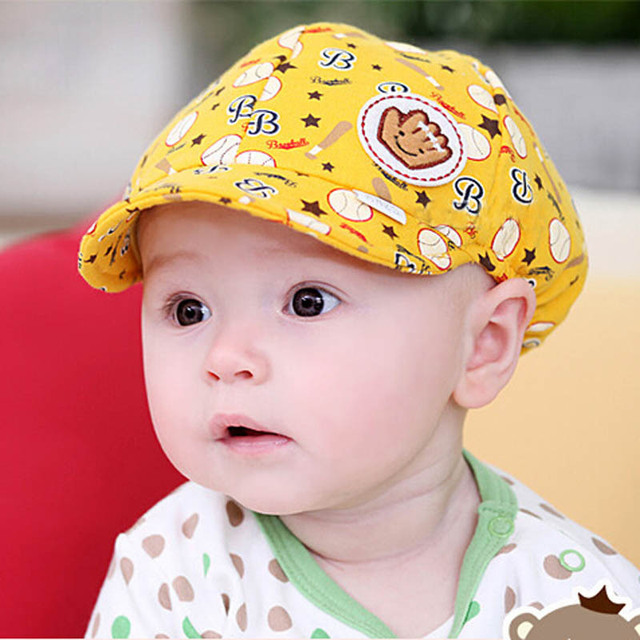 64f512d92 US $2.66 45% OFF|Big Sale Kids Hat Peaked Baseball Beret Cap 2015 Spring  Autumn Hat Baby Boy Girl Kid Toddler Infant Cap For Newborns-in Hats & Caps  ...