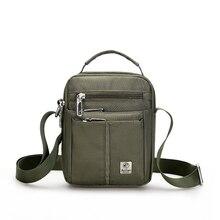 Waterproof Nylon Small Flap Messenger bag For Men Black Casu