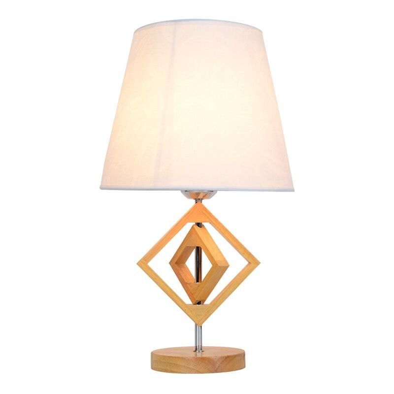 Твердая древесина маленький настольная лампа спальня прикроватный настольная лампа современный минималистский теплой древесины лампа ор...