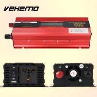 1500W Power Inverter Installation Kit Auto Car Vehicle Power Supply Red