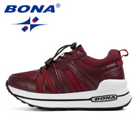 BONA New Popular Style Women Walking Shoes Height Increasing Jogging Shoes Lace Up Sport Shoes Outdoor Sneaners Soft Comfortable