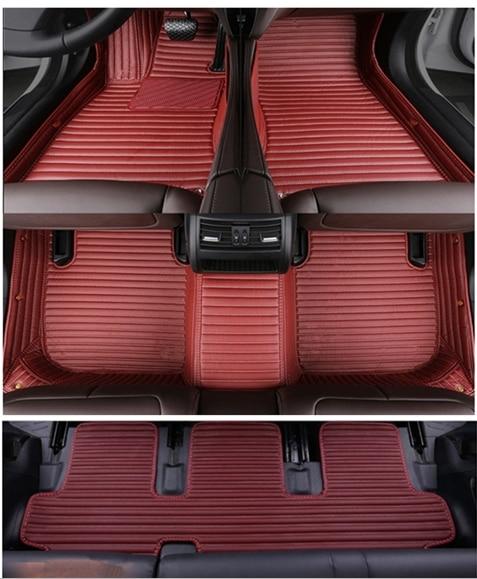 High quality rugs! Custom special car floor mats for Toyota Highlander 7 seats 2013 2007 waterproof carpets for Highlander 2012