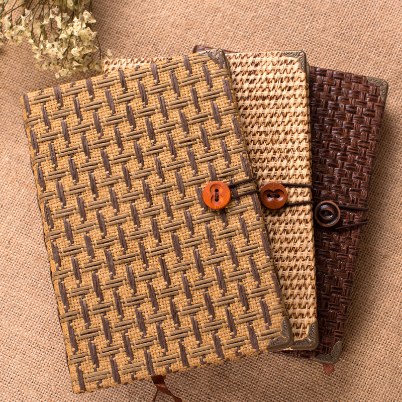 Weaving Retro Diary Planners Personalized Gift Business Notebook Weave Cover Notepad Student Stationery Supplies WJ-XXWJ333-