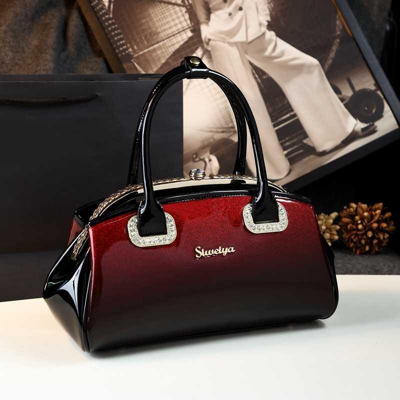ICEV Neue Mode Frauen Leder Handtasche Patent Leder Tasche Handtaschen Frauen Berühmte Marken Diamanten Hohe Qualität Damen Büro Totes